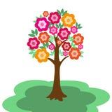 Czarodziejski kwiatonośny drzewo Obrazy Stock