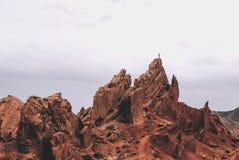 Czarodziejski ogonu canynon na issykul jeziorze w Kirgistan Fotografia Royalty Free