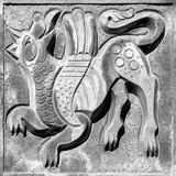 Czarodziejski oskrzydlony wilk Obraz Royalty Free