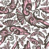 Czarodziejski ptasi bezszwowy wzór ilustracja wektor