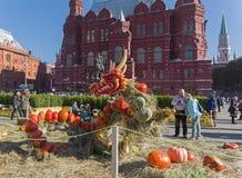 Czarodziejski smok robić dojrzałe pomarańczowe banie festiwale Fotografia Royalty Free
