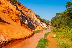 Czarodziejski strumień w Mui Ne zdjęcia stock