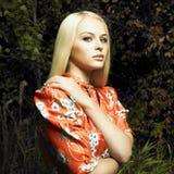 czarodziejskiego lasu dziewczyna Zdjęcia Royalty Free