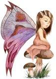 Czarodziejskiego lasu dziewczyna Ilustracja Wektor