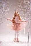 czarodziejskiego lasu dziewczyna fotografia stock