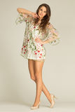 Czarować, młode kobiety jest ubranym, suknię i highheels zdjęcie royalty free