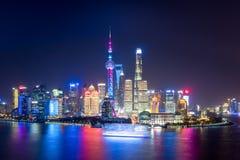 Czarować Shanghai przy nocą Fotografia Stock