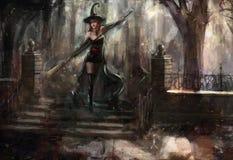 czarownica royalty ilustracja