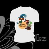 Czarownica druk na koszulce Zdjęcia Stock