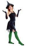 Czarownica Halloween Fotografia Royalty Free