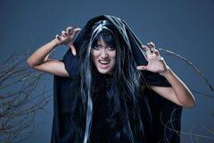 czarownica krzyczy Zdjęcia Stock