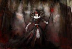 Czarownica z duchami ilustracji