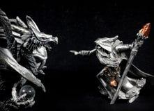 Czarownik vs Smok Zdjęcia Royalty Free