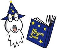 Czarownik z magii książką royalty ilustracja