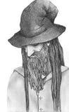 Czarownika rysunek Obrazy Royalty Free