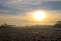 Czarowny krajobraz przy wschodem słońca obrazy stock