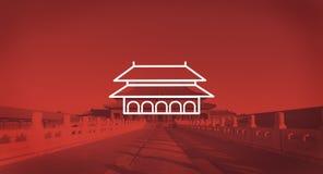 Czarowny Zakazujący miasta Pekin wczesnego poranku światła słonecznego pojęcie fotografia royalty free