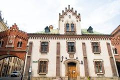 Czartoryski博物馆和图书馆房子在克拉科夫,波兰 库存照片