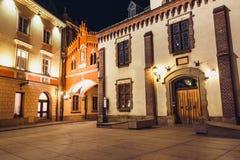 Czartoryskimuseum in oude stad van Krakau, Polen Stock Afbeelding