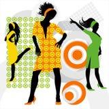 czarujące tańczące dziewczyny Zdjęcie Royalty Free