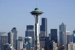 Seattle miasta linia horyzontu obrazy royalty free