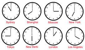 czas światu strefy Obraz Royalty Free