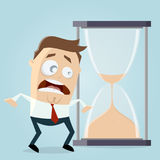 Czas biega out hourglass clipart Obrazy Stock