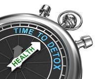 Czas detox, pojęcie Obrazy Royalty Free