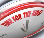 Czas dla dzieciaków Zegarowy 3D formułuje Specjalną sztuki odtwarzania recesję Zdjęcie Stock