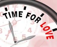 Czas Dla miłości wiadomości Pokazuje romans I uczucia Zdjęcie Royalty Free