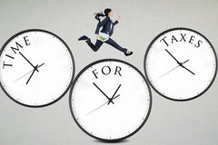 Czas dla podatków Zdjęcia Stock