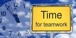 Czas dla praca zespołowa znaka zdjęcie royalty free