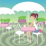 czas herbaty Ilustracji