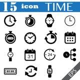 Czas ikony ustalona ilustracja eps10 Fotografia Stock