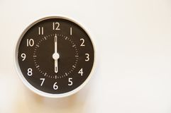 Czas jest 6:00 Fotografia Royalty Free