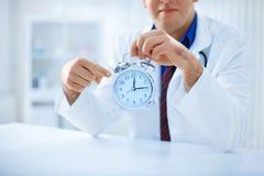 Czas jest kluczowy dla twój zdrowie Obrazy Stock