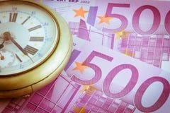 Czas jest pieniądze starego stylu pic Zdjęcie Stock