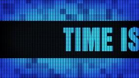 Czas jest pieniądze przodu teksta ekran wyświetlacza znaka Scrolling PROWADZĄCYM Ściennym deską zdjęcie wideo