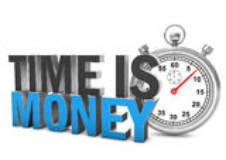 Czas Jest pieniądze Stopwatch Obrazy Royalty Free