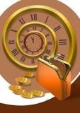 Czas jest pieniądze ilustracji
