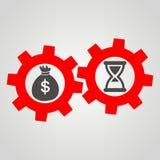 Czas jest pieniądze Biznesowy mieszkanie ilustracji