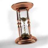 Czas jest pieniądze hourglass Zdjęcia Stock