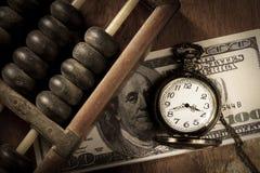 Czas jest pieniądze, rocznika stylu kolor. Zdjęcie Royalty Free
