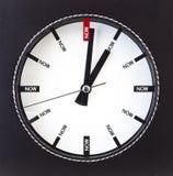 Czas jest Teraz - zegarem obraz royalty free