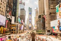 Czas Kwadratowy Manhattan, Miasto Nowy Jork Zdjęcia Royalty Free