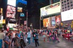 Czas Kwadratowy Miasto Nowy Jork Obraz Royalty Free