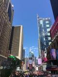 Czas Kwadratowy Miasto Nowy Jork Fotografia Royalty Free