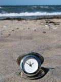 czas na plaży obraz stock