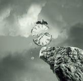 Czas nigdy zatrzymuje ilustracja wektor
