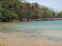 Czas odpoczywać dla te wonderfull Tajlandzkich łodzi rybackich obrazy royalty free